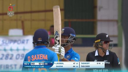 ICC U19 CWC: IND v NZ – Jaiswal brings up fifty with a six