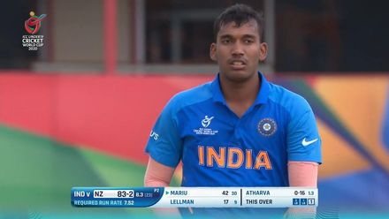 ICC U19 CWC: IND v NZ – Highlights of Atharva Ankolekar's 3/28