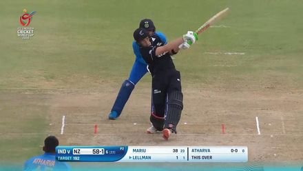 ICC U19 CWC: IND v NZ – Lellman launches it