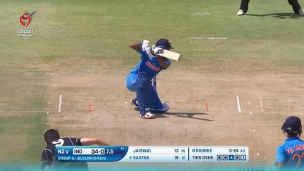 ICC U19 CWC: IND v NZ – Saxena punishes O'Rourke for a wide one