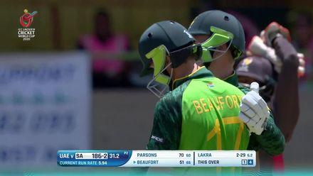 ICC U19 CWC: SA v UAE – Highlights of Beaufort's 85