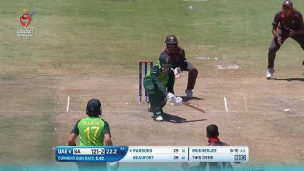 ICC U19 CWC: SA v UAE – Parsons reverse-sweeps for four