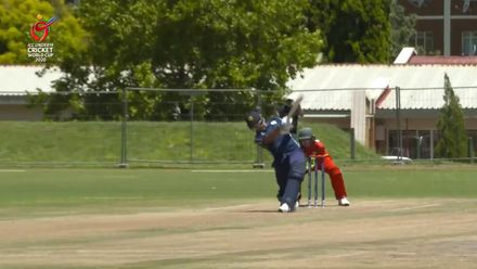 ICC U19 CWC: ZIM v SCO – Sajjad hits the first six of the game