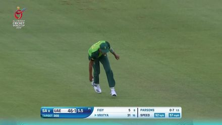 ICC U19 CWC: SA v UAE – Highlights of UAE's rain-marred chase