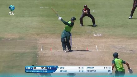 ICC U19 CWC: SA v UAE – All the boundaries from the game