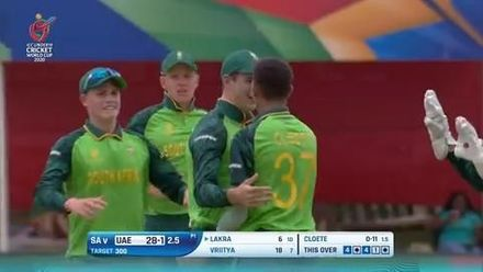 ICC U19 CWC: SA v UAE – Highlights of South Africa's 23-run win (DLS)