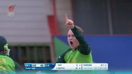 ICC U19 CWC: SA v UAE – Parsons finds Aravind's top-edge