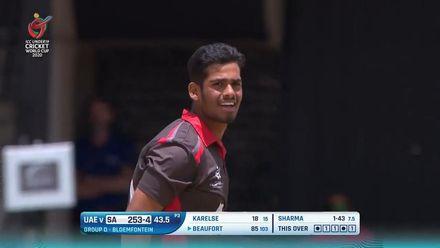 ICC U19 CWC: SA v UAE – Beaufort holes out off Sanchit