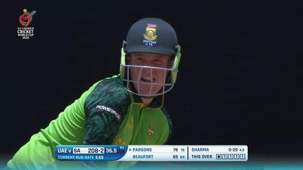 ICC U19 CWC: SA v UAE – Parsons hammers one down the ground