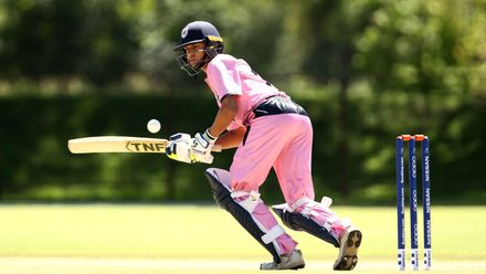 Neel Date of Japan bats during the ICC U19 Cricket World Cup Plate Quarter Final 2 match between England and Japan at Witrand Oval on January 27, 2020 in Potchefstroom, South Africa.