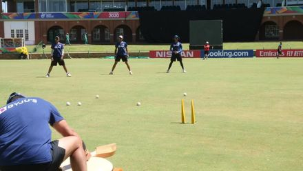 ICC U19 CWC: At the nets with the Indian slip cordon