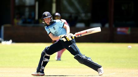 Dan Mousley of England bats during the ICC U19 Cricket World Cup Plate Quarter Final 2 match between England and Japan at Witrand Oval on January 27, 2020 in Potchefstroom, South Africa.