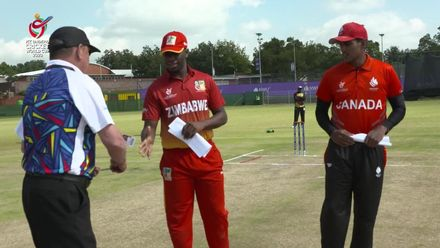 ICC U19 CWC: ZIM v CAN – Zimbabwe win the toss, opt to bat
