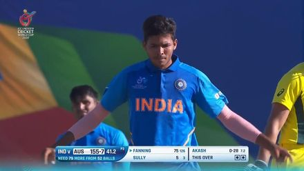 ICC U19 CWC: IND v AUS – Highlights of Akash Singh's 3/30