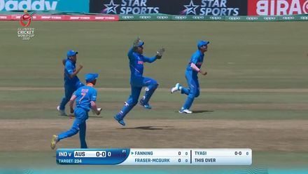 ICC U19 CWC: IND v AUS – Australia lose 3/4 in first over!
