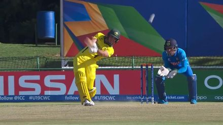 ICC U19 CWC: IND v AUS – Fanning sends Veer over the ropes