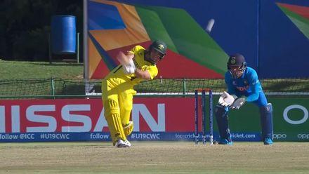 ICC U19 CWC: IND v AUS – Fanning sends Veer over the ropes