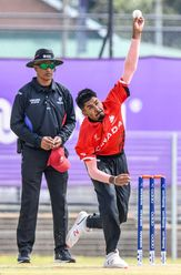 Rishiv Joshi of Canada during the ICC U19 Cricket World Cup Plate Quarter Final 3 match between Zimbabwe and Canada at Ibbies Oval on January 28, 2020 in Potchefstroom, South Africa.