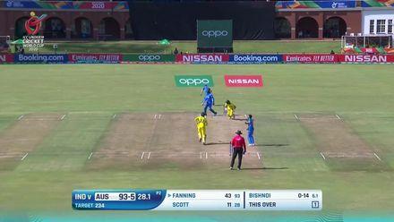 ICC U19 CWC: IND v AUS – Highlights of Sam Fanning's valiant 75