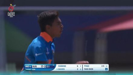 ICC U19 CWC: IND v AUS – Highlights of Kartik Tyagi's 4/24