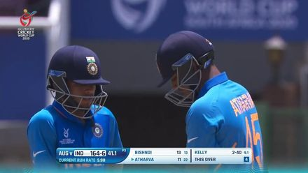 ICC U19 CWC: IND v AUS – Highlights of Atharva Ankolekar's 55*