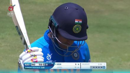 ICC U19 CWC: IND v AUS: Jurel holes out to Murphy
