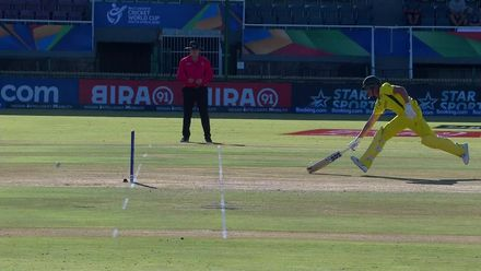 ICC U19 CWC: IND v AUS – India strike thrice in the 43rd over