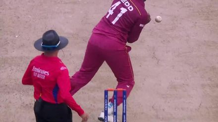 ICC U19 CWC: WI v NZ – Nedd takes a juggling catch to dismiss Ashok