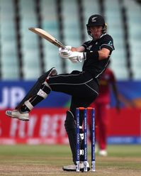 Jesse Tashkoff of New Zealand pulls the ball during the ICC U19 Cricket World Super League Cup Quarter Final match between West Indies and New Zealand at Willowmoore Park on January 29, 2020 in Benoni, South Africa.