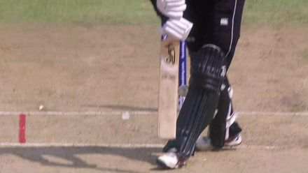 ICC U19 CWC: WI v NZ – Mariu is trapped plumb in front by James