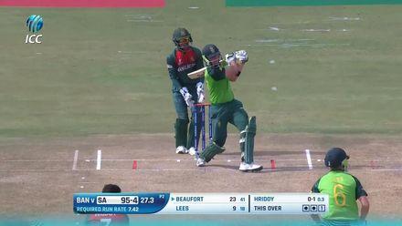 ICC U19 CWC: SA v BAN – Highlights of Beaufort's 60