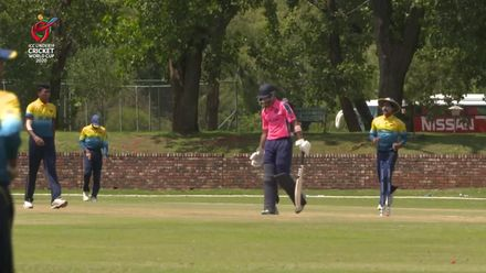 ICC U19 CWC: SL v SCO – Madushanka sends Uzzair Shah's off-stump flying