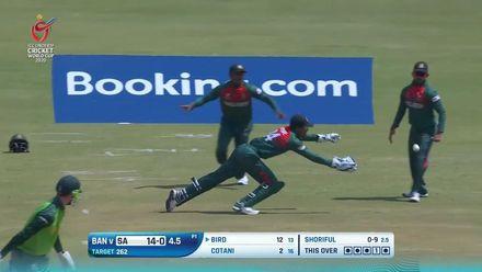 ICC U19 CWC: SA v BAN – Bird is reprieved by Bangladesh 'keeper