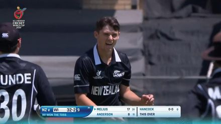 ICC U19 CWC: WI v NZ – All eight wickets to fall
