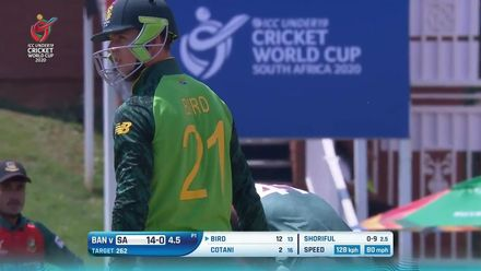 ICC U19 CWC: SA v BAN – Highlights of the South Africa innings