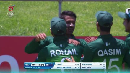 ICC U19 CWC: AFG v PAK – Highlights of Amir Khan's 3/58