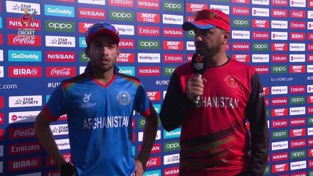 ICC U19 CWC: AFG v PAK – Post-match presentation