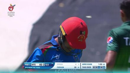ICC U19 CWC: AFG v PAK – Imran falls cheaply to hand Amir his first scalp