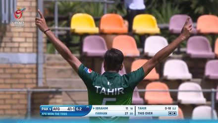 ICC U19 CWC: AFG v PAK – All the 14 wickets to fall