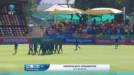 ICC U19 CWC: AFG v PAK – Highlights of Pakistan's six-wicket win