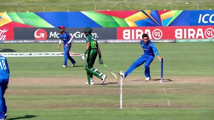 ICC U19 CWC: AFG v PAK – Hurraira gets Mankaded on 64