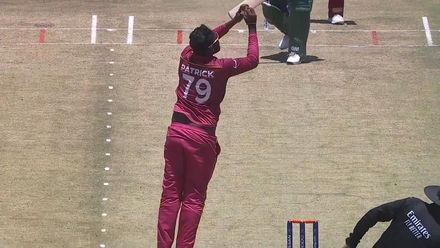 ICC U19 CWC: SA v WI – Moletsane is caught-and-bowled by Patrick