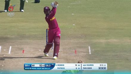 ICC U19 CWC: SA v WI – Morris stands and delivers