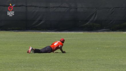 ICC U19 CWC: UAE v CAN – Deosammy pulls off a brilliant catch