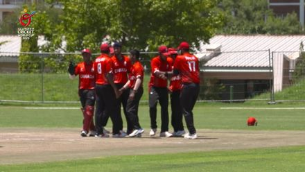 ICC U19 CWC: UAE v CAN – Canada players gleefully celebrate Tandon's dismissal