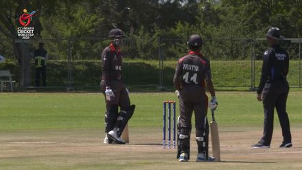 ICC U19 CWC: UAE v CAN – Bizarre run-out gives Canada their first wicket