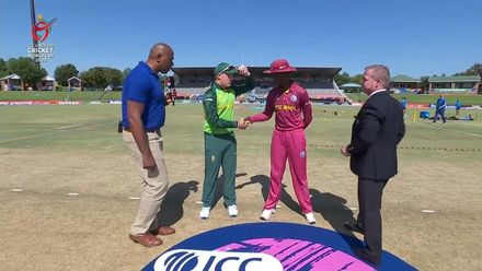 ICC U19 CWC: SA v WI – South Africa win the toss, opt to bat