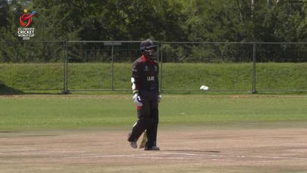ICC U19 CWC: UAE v CAN – Jonathan Figy falls for a first-ball duck