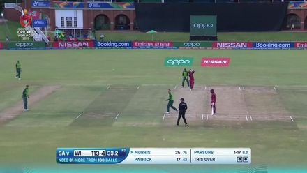 ICC U19 CWC: SA v WI – Highlights of the West Indies innings