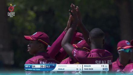 ICC U19 CWC: SA v WI – Seales gets the better of Parsons with a ripper